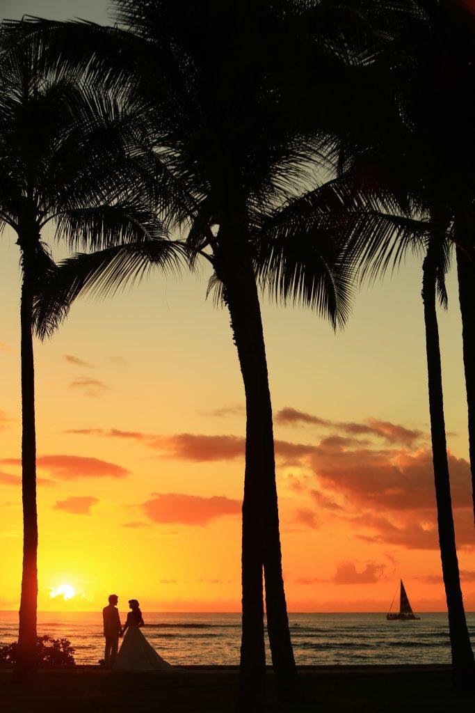 001 ハワイビーチサンセット Sunset Photo by TAKA (AFLOAT Hawaii)