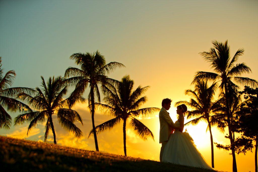 016 フォトウェディングフォトハワイ  Sunset Photo by TAKA (AFLOAT Hawaii)