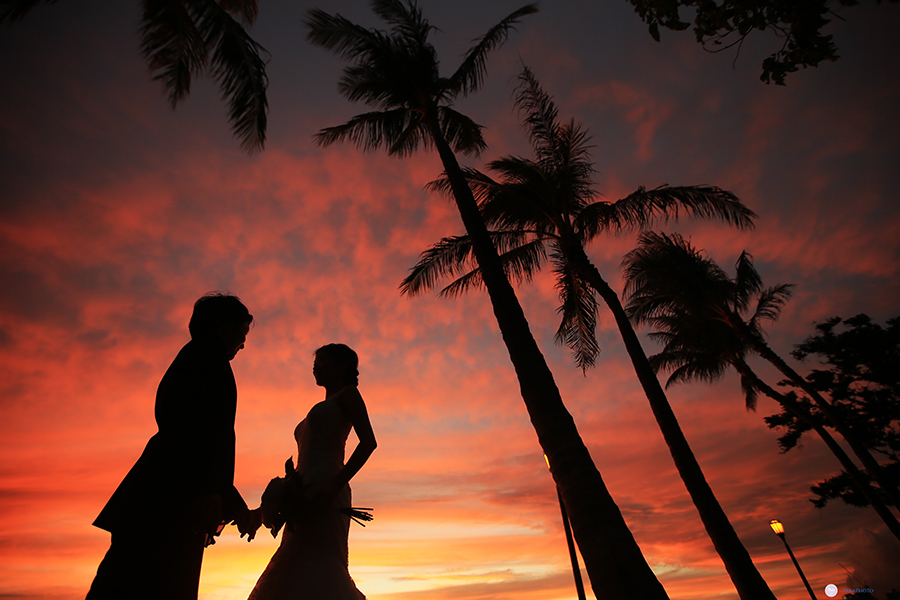 ピンク サンセット撮影 可愛い ロマンチック
