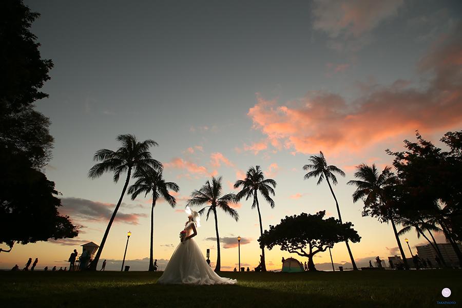 ハワイ 後撮り 前撮り ハネムーン撮影
