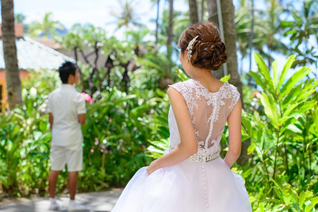 ハワイウェディング ファーストミート Photo by MARU (AFLOAT Hawaii)