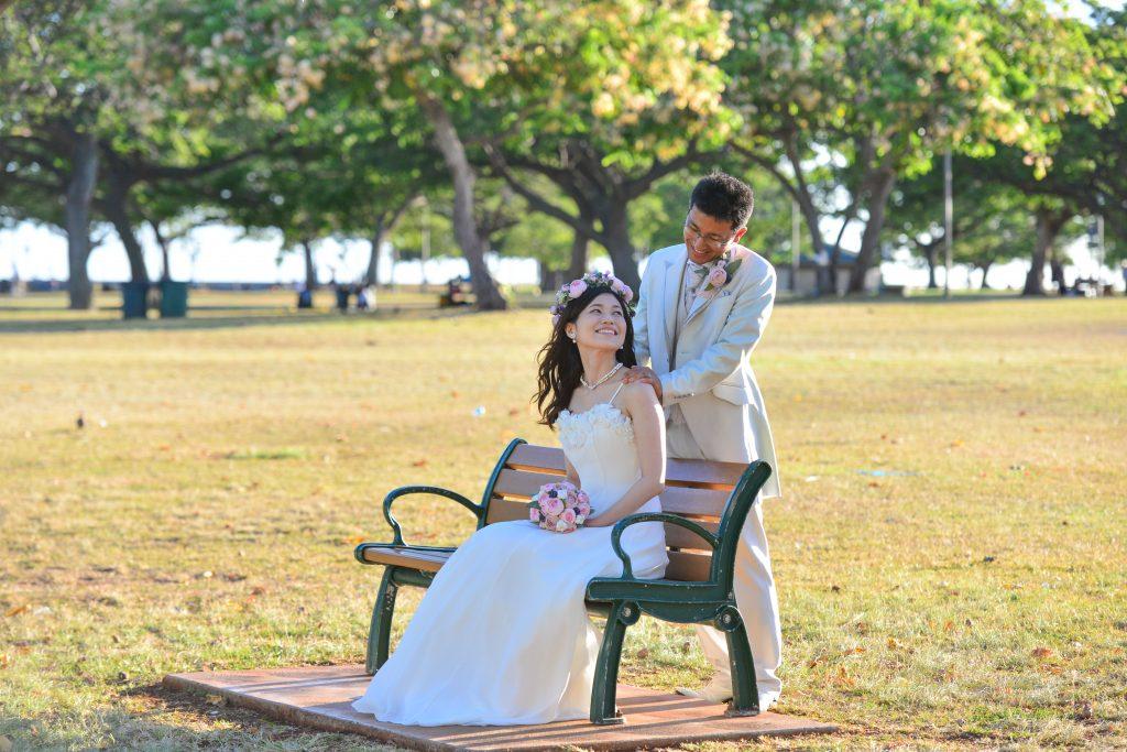 ハワイフォトツアー ベンチ Photo by MARU (AFLOAT Hawaii)