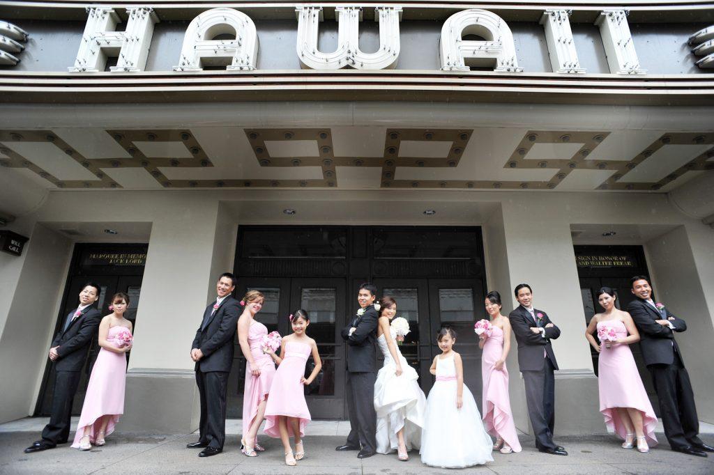 ハワイウェディング ハワイシアター Photo by Goerge (AFLOAT Hawaii)