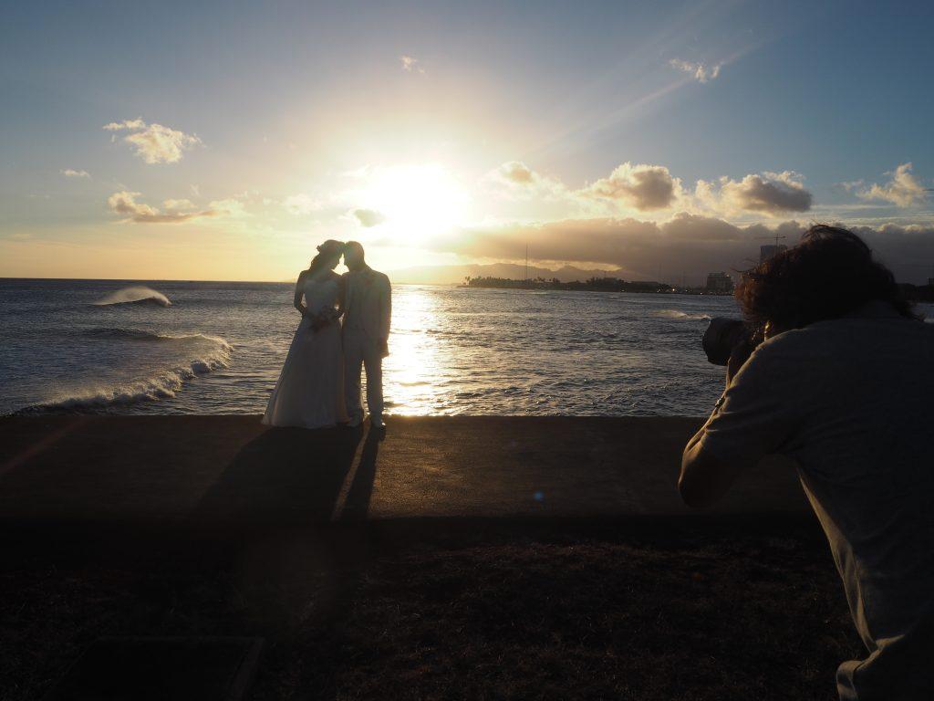 ハワイ サンセット 撮影風景 Photo by MARU (AFLOAT Hawaii)
