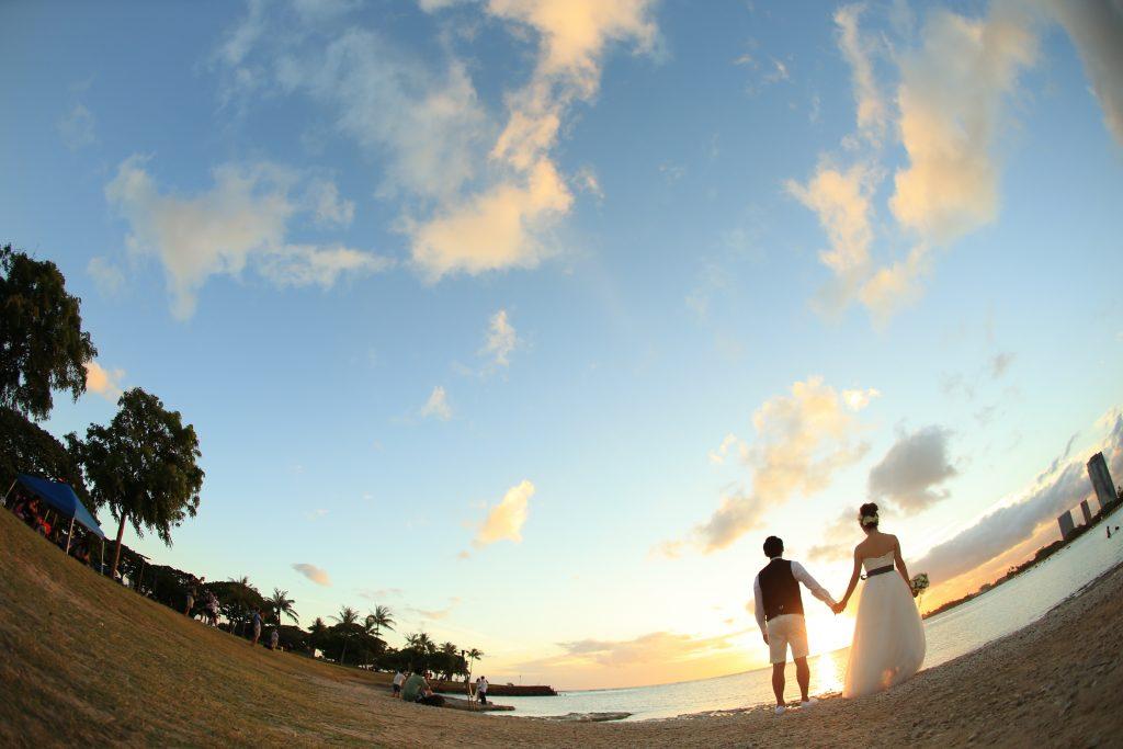 ウェディングフォト ハワイ後撮り
