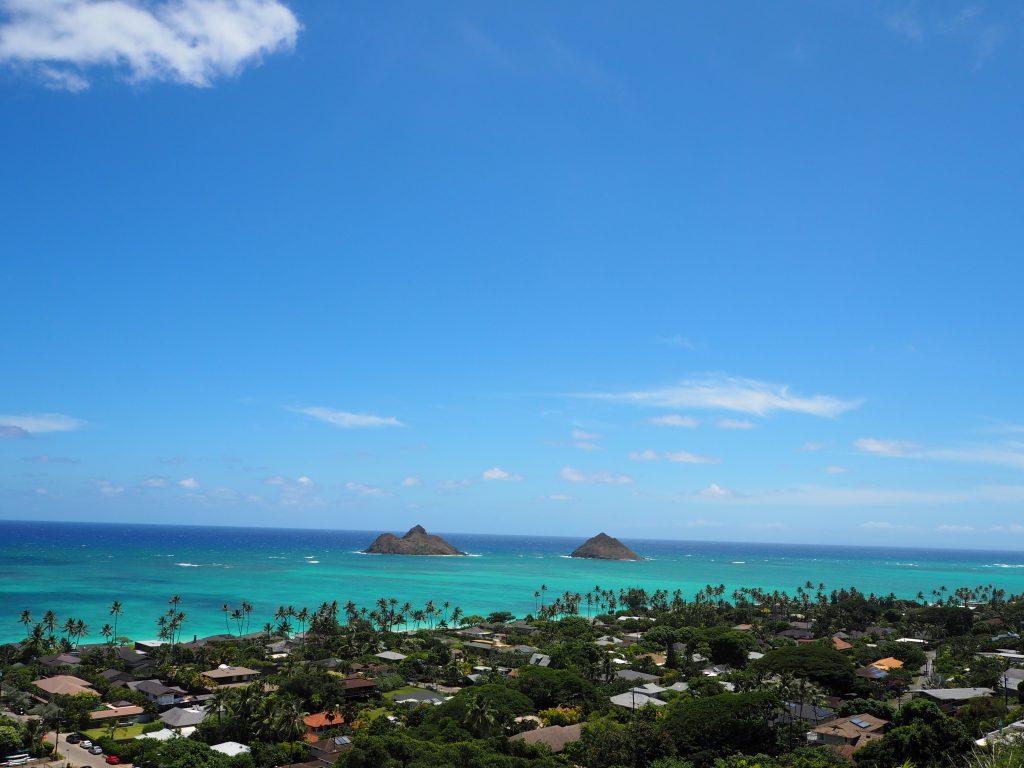 ハワイ ラニカイビーチ モクヌイ島 モクイキ島
