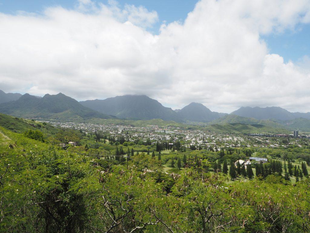 ハワイピルボックス 見渡す市街