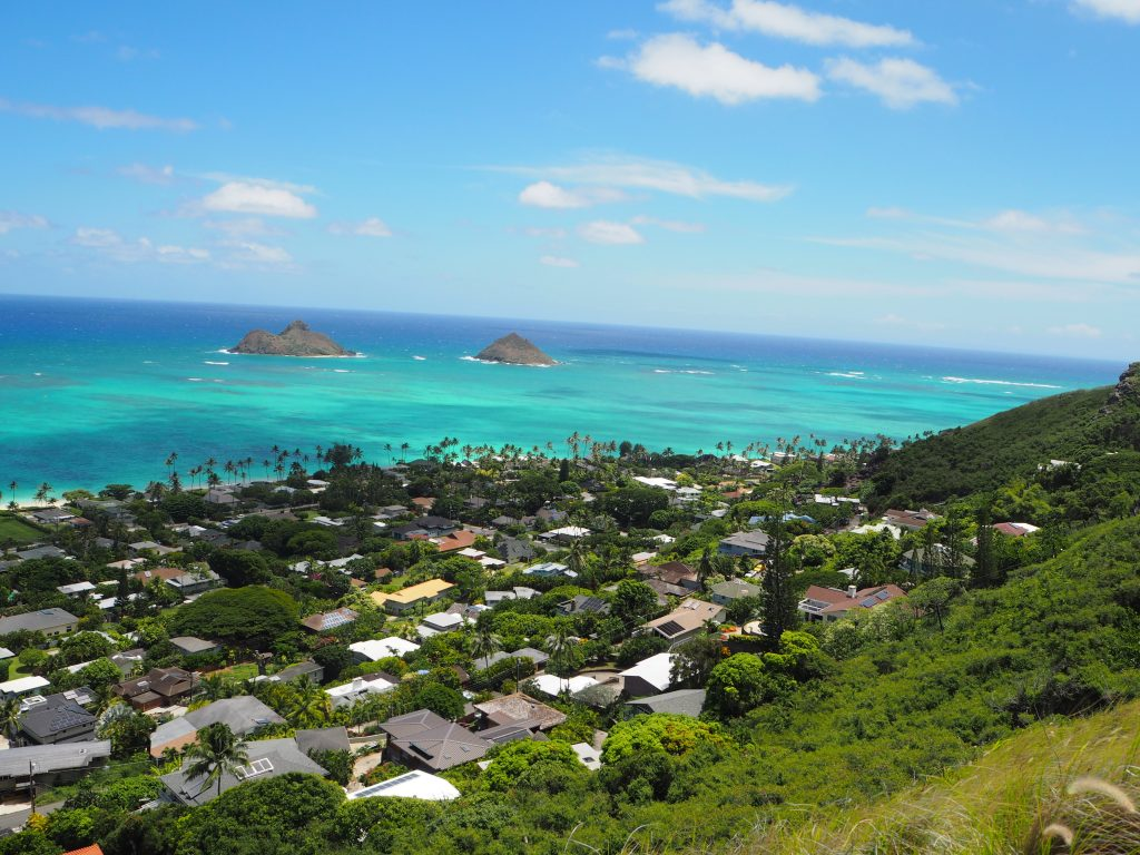 ラニカイビーチ ハワイ感動的気色