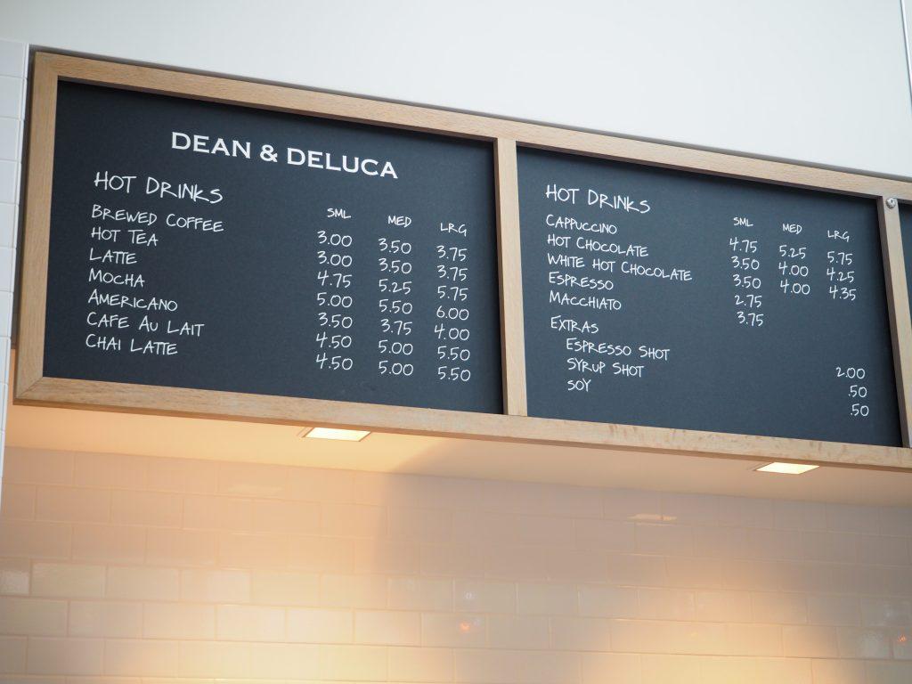DEAN & DELCA ハワイ ホットドリンクメニュー