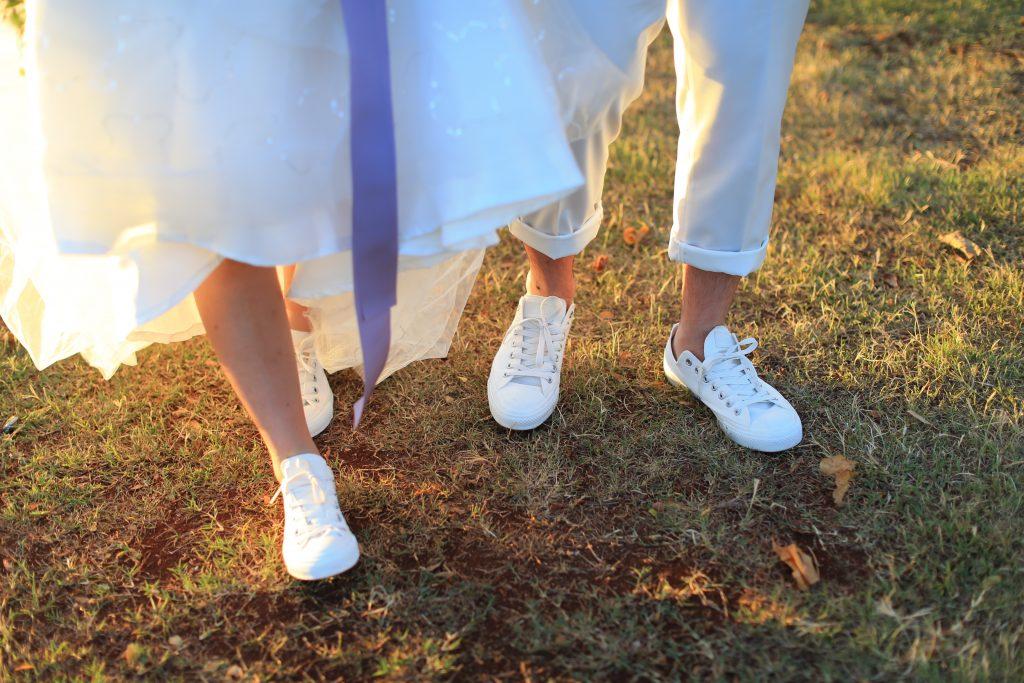 ハワイサンセット フォトウェディング お揃いの靴