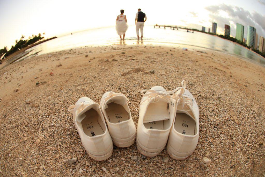 ハワイハネムーン ハワイ後撮り ワイキキビーチ