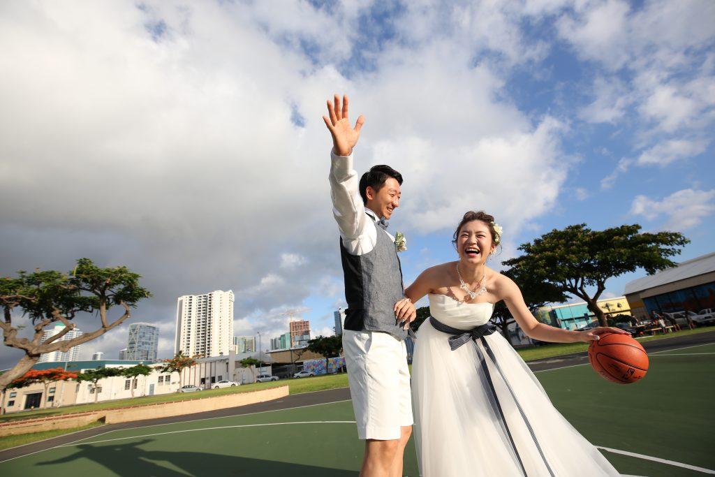 ハワイ 人気 フォトツアー カカアコ バスケットボール