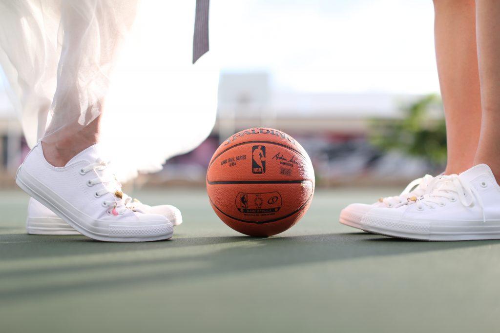 ハワイフォトツアー バスケットボール 可愛い オシャレカップル