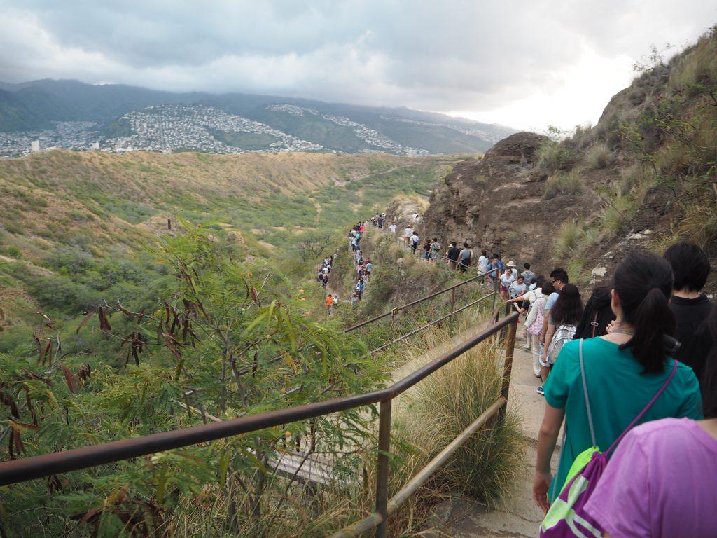 ハワイ トレイル 有名 ダイアモンドヘッド