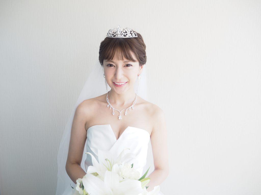 仲村美香 モデル ハワイ挙式 ヘアメイク