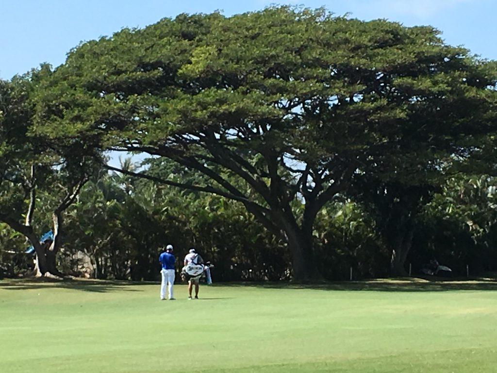 松山英樹とキャディー Sony Open in Hawaii 2017