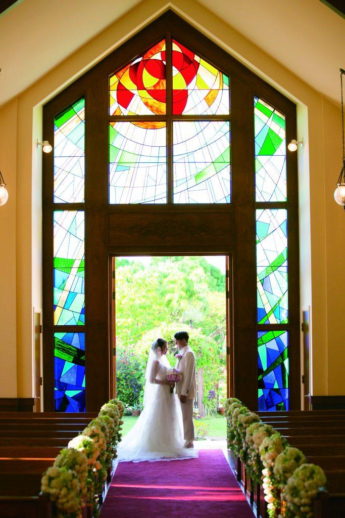 ハワイ 挙式 教会 クチュールナオコ