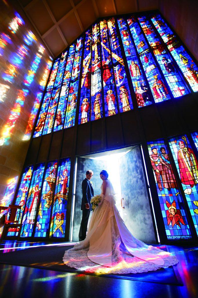 セントアンドリュース大聖堂 綺麗 ハワイ挙式