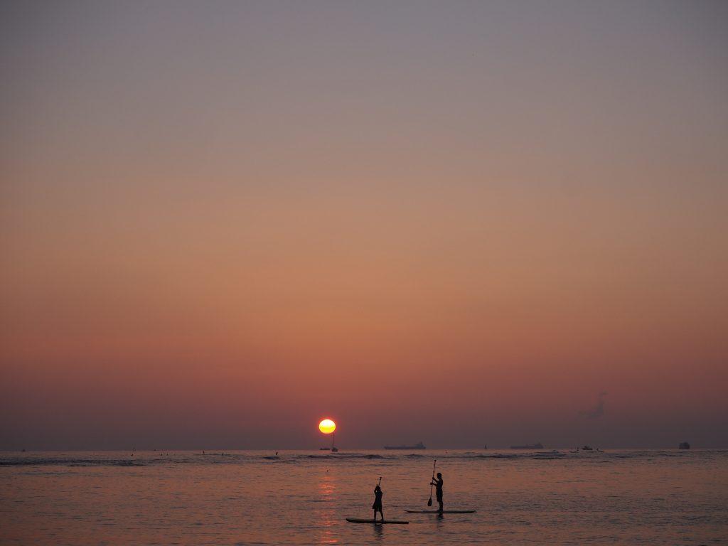 ハワイ サンセット 夕日 絶景