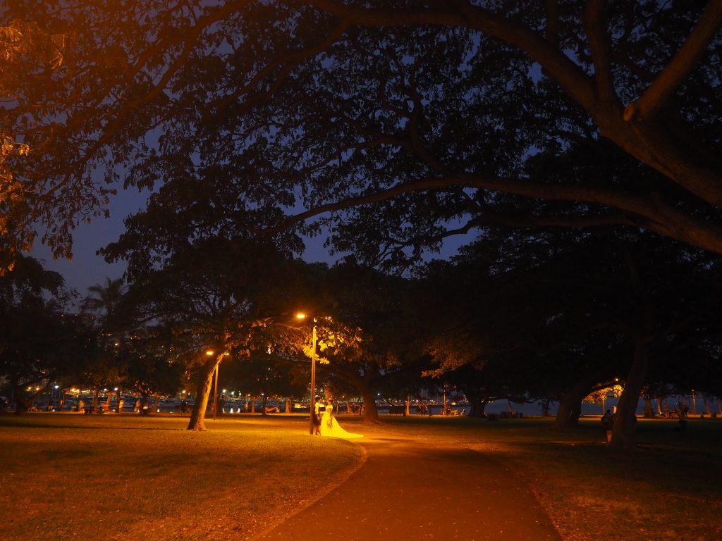 フォトウェディング ハワイ 夜景 撮影