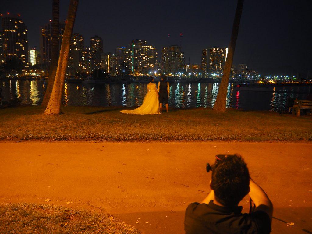 フォトウェディング ハワイ 夜景 おすすめ
