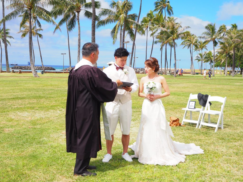ハワイ ウェディング 結婚式証明書