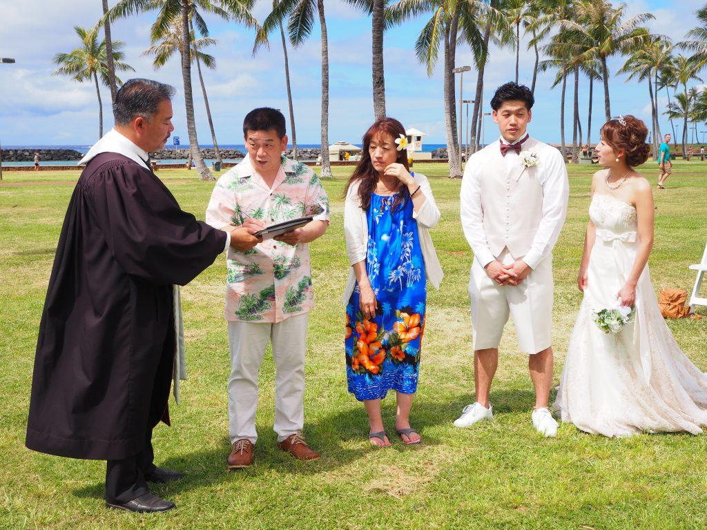 結婚証明書 ハワイ ウェディング