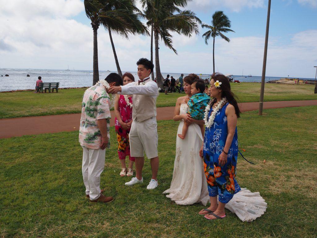 ハワイ レイ贈呈 素敵な時間