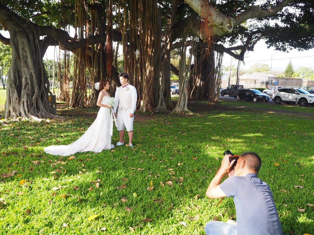 ハワイ カピオラニ公園 撮影 気持ち良い