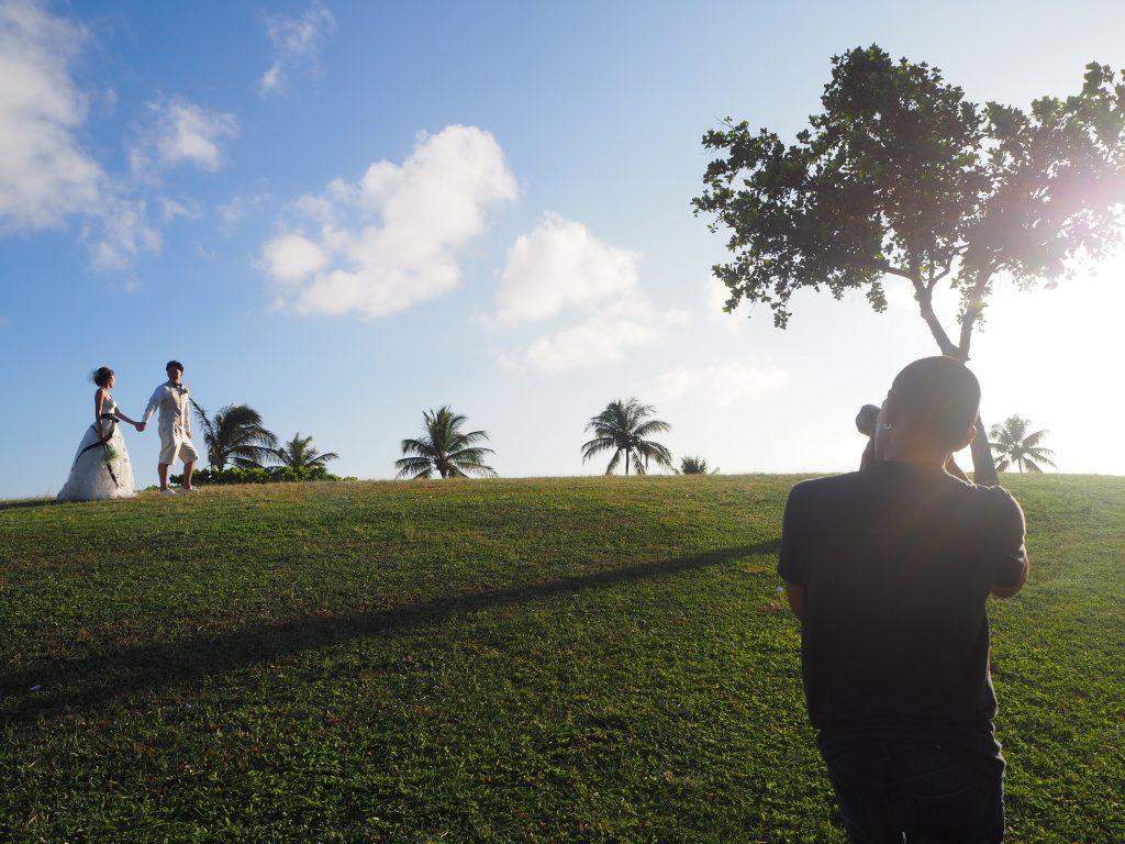 ハワイ カカアコ サンセット撮影