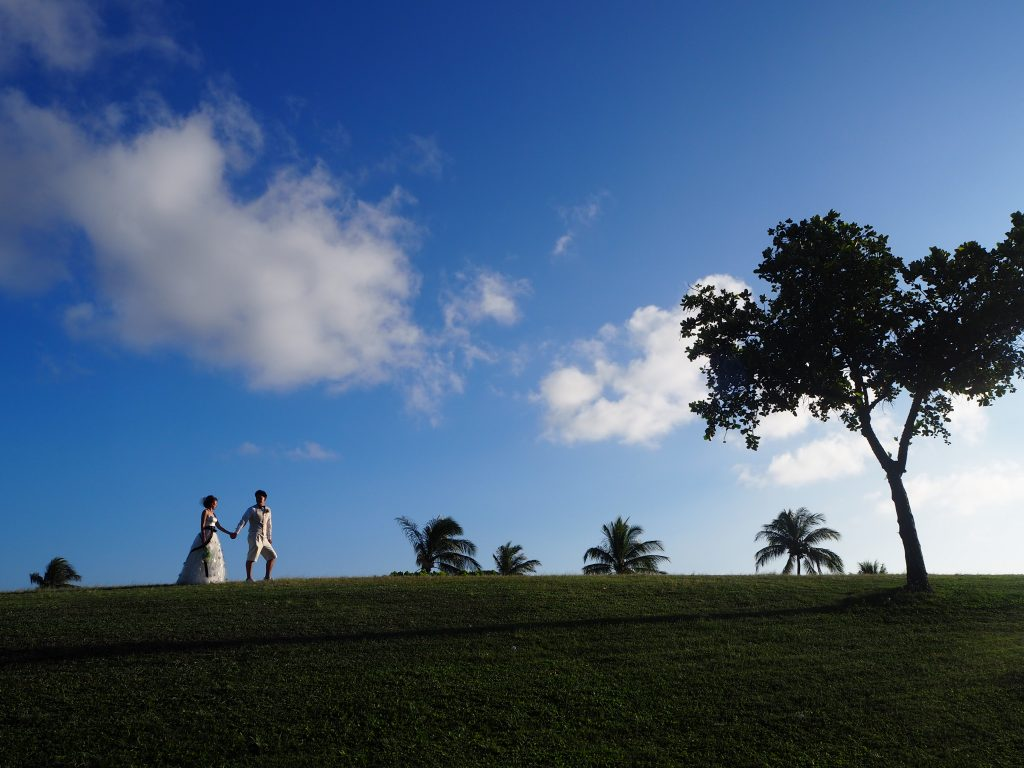ハワイフォトウェディング 撮影 カカアコ