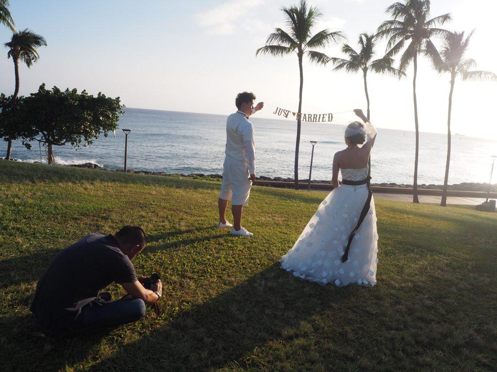 ハワイ サンセット撮影 人気