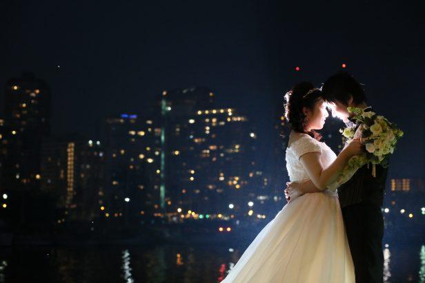 ハワイ 夜景 フォトウェディング カメラマンTAKA