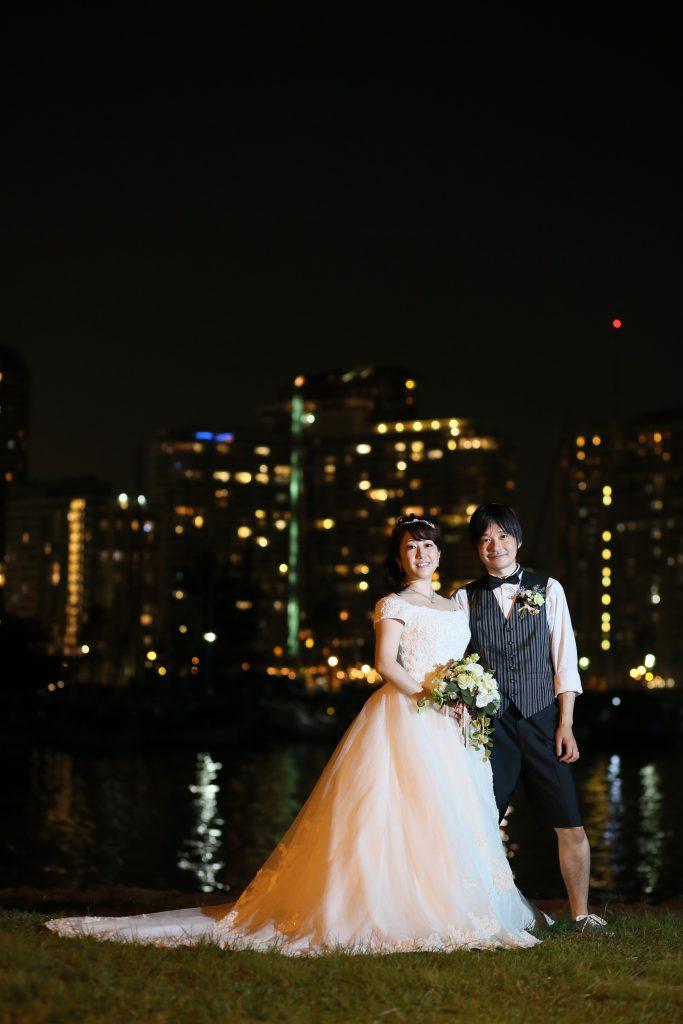 ハワイ フォトツアー ダイアモンドヘッド 夜景