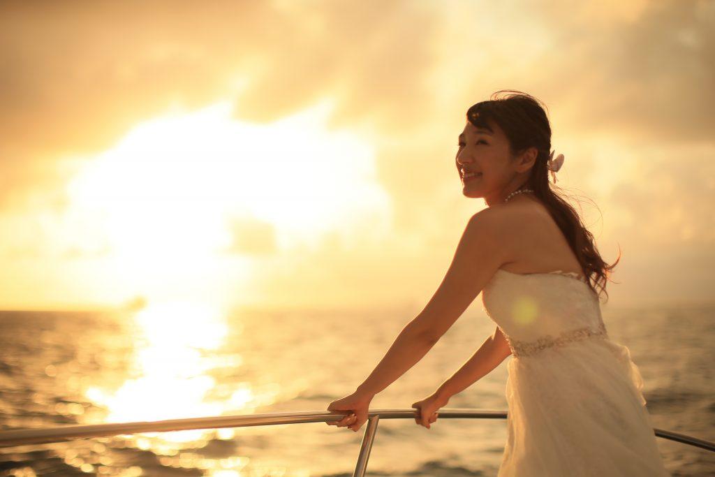ハワイ 花嫁 撮影 サンセット