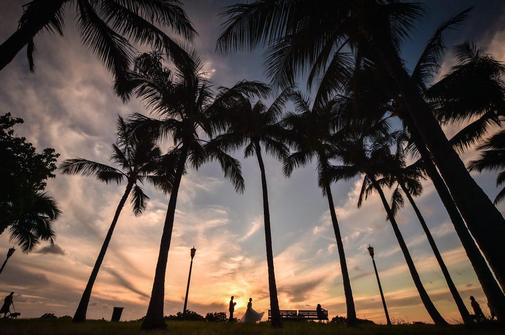ハワイ サンセット撮影 カピオラニ