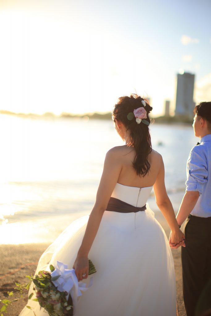 ハワイ フォトウェディング 撮影 ビーチ