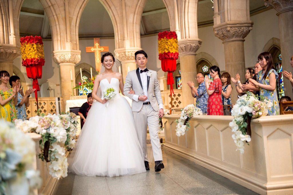 ハワイ セントアンドリュース大聖堂 クチュールナオコ アフロートハワイ