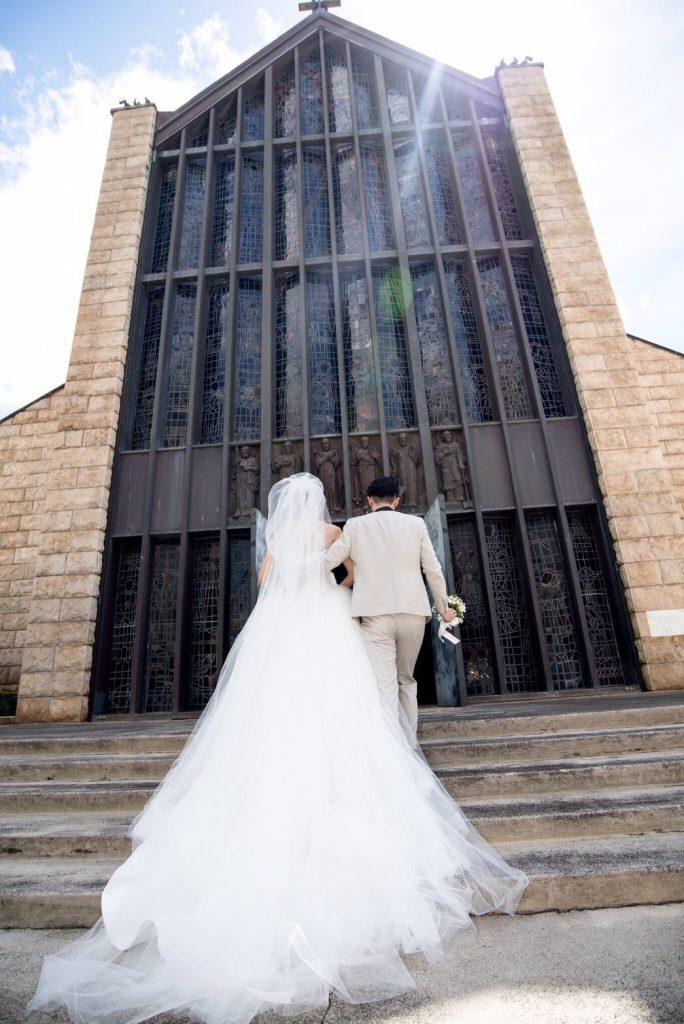ハワイ セントアンドリュース大聖堂 挙式
