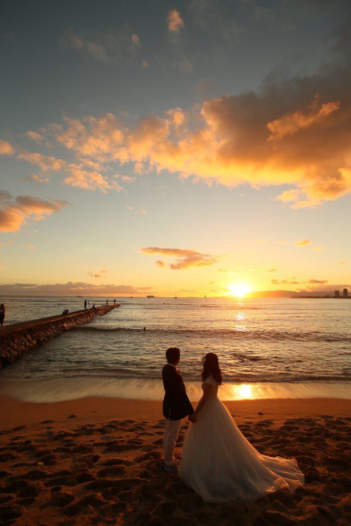 ハワイ フォトツアー サンセット