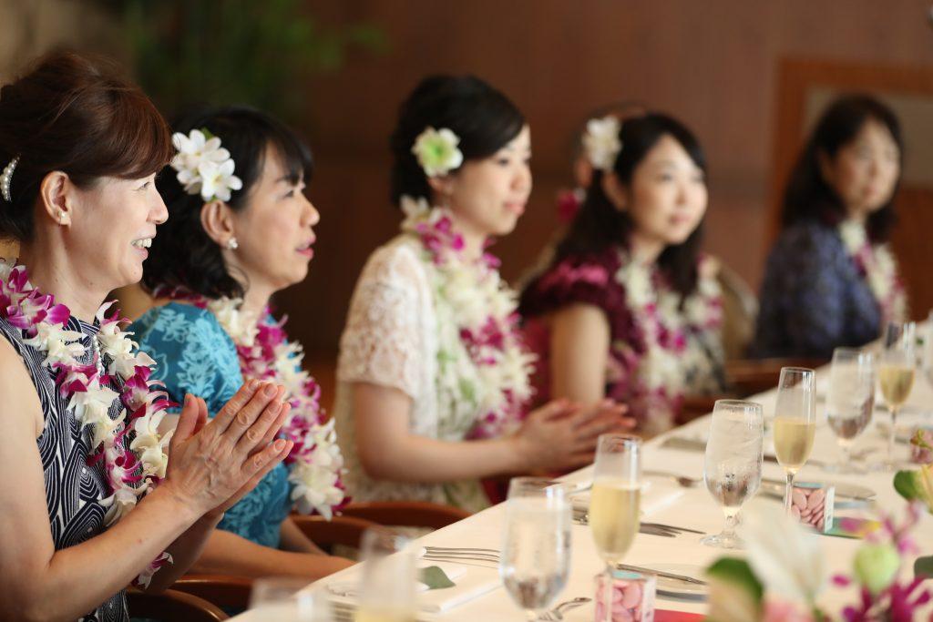 ハワイ ウェディング 食事 披露宴