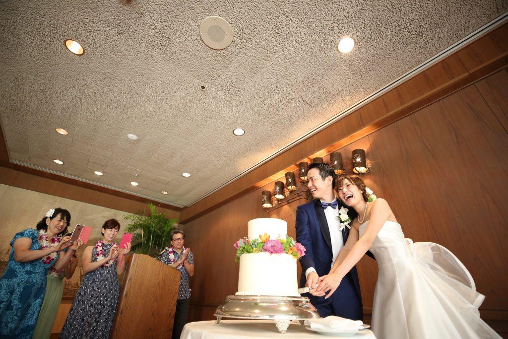 ウェディングケーキ ハレクラニホテル レセプションパーティー