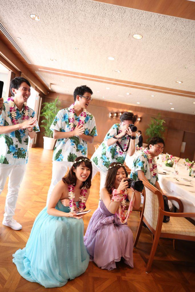 レセプションパーティー ゲスト 可愛い ハワイ