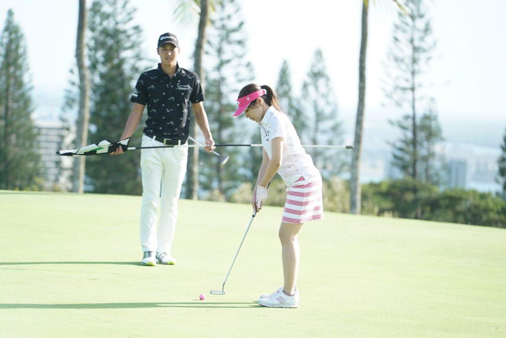 ハワイ ゴルフ 撮影