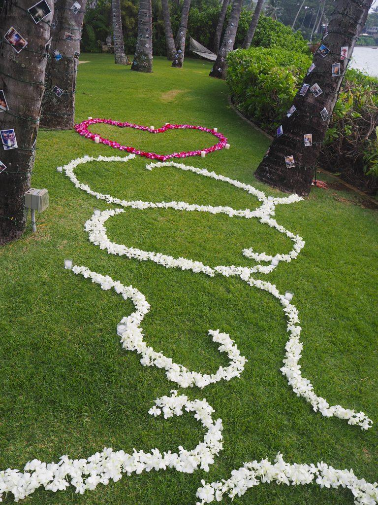 ハワイ ウェディング 邸宅