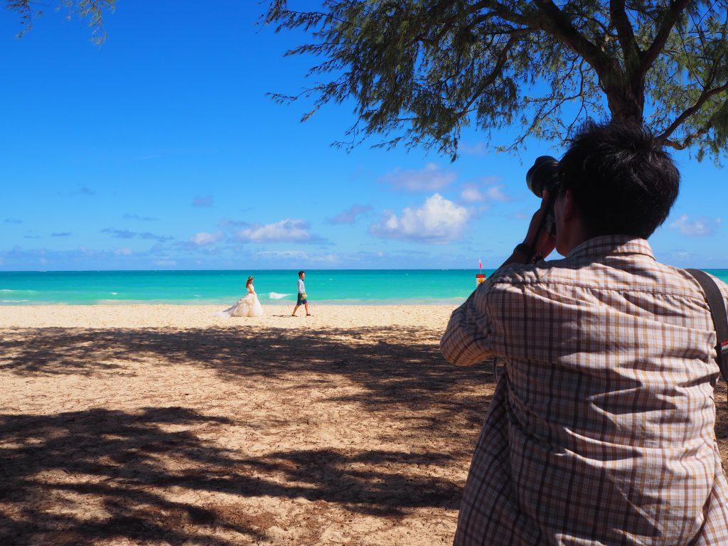 ハワイ ワイマナロビーチ 撮影