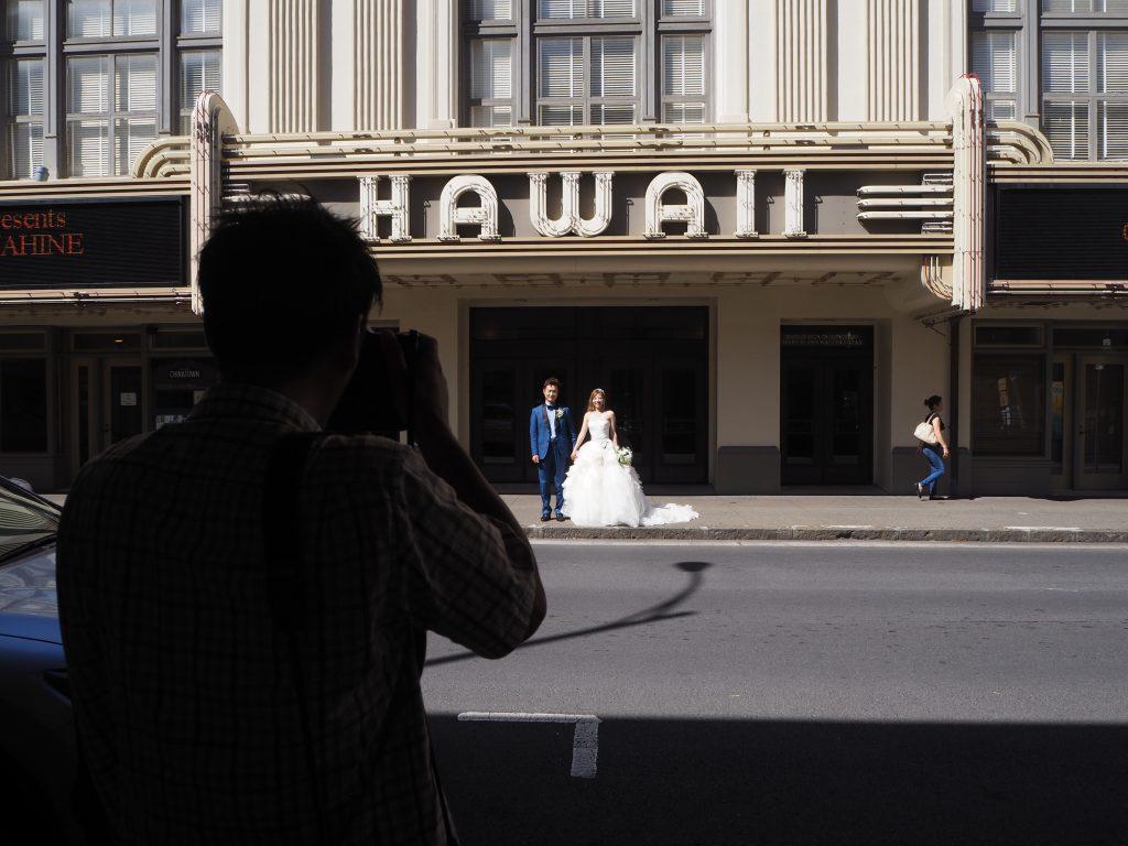 ハワイ フォトウェディング ダウンタウン撮影