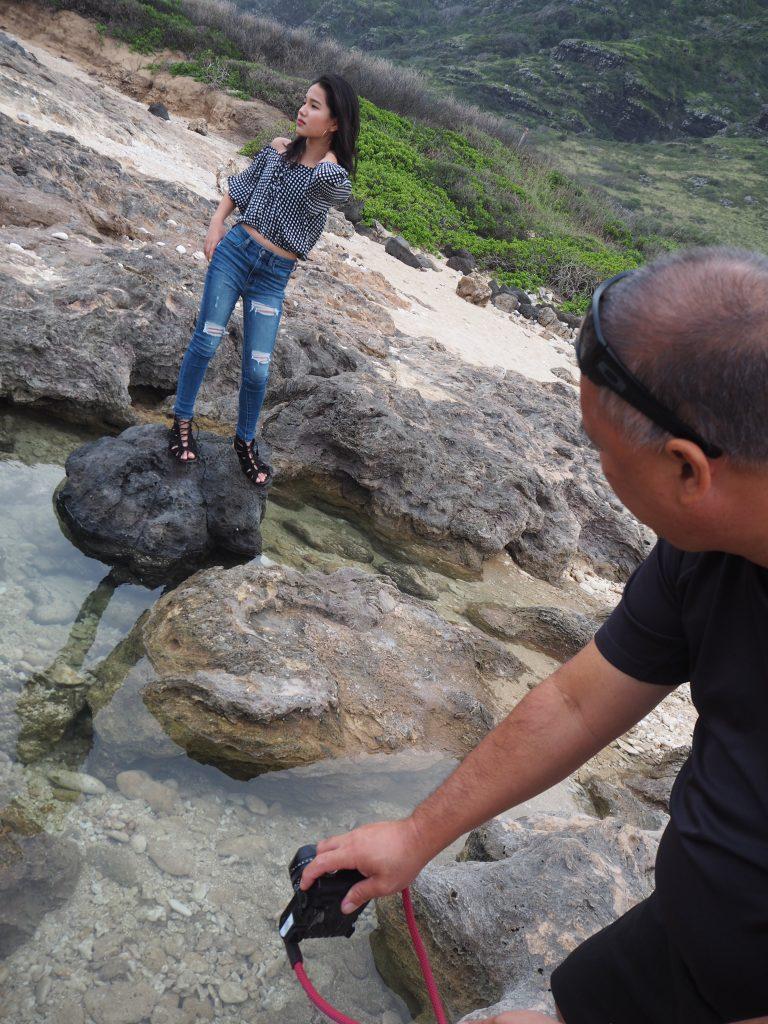 ハワイ 撮影 岩 ビーチ