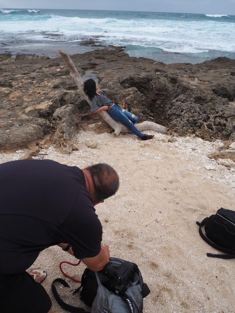 ハワイ ビーチ 撮影