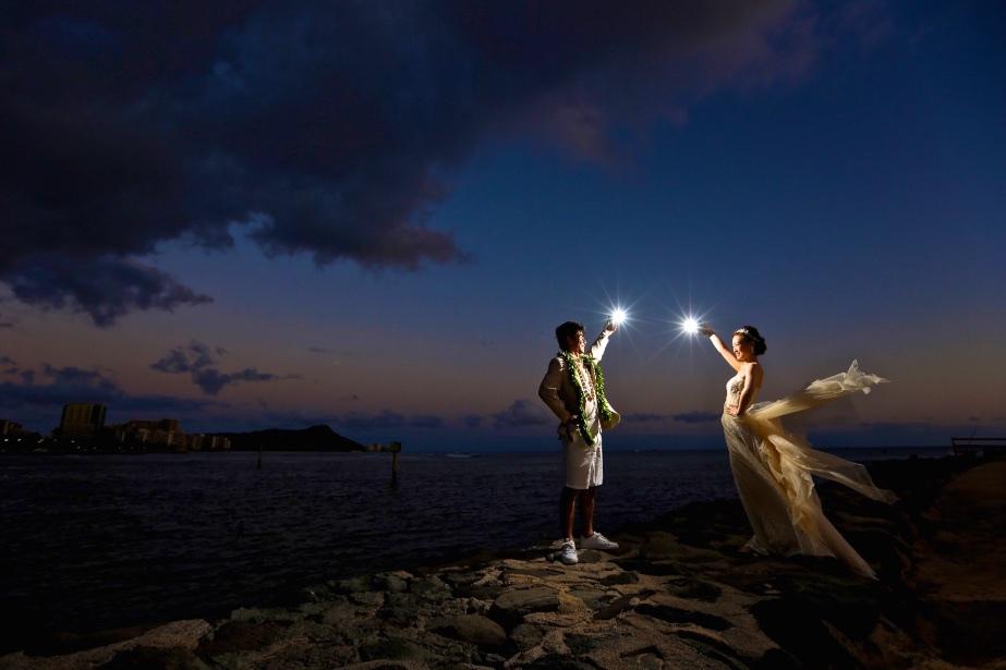 夜景 ハワイ 撮影